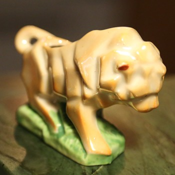 Cubist Lustreware Lion - Toothpick Holder?