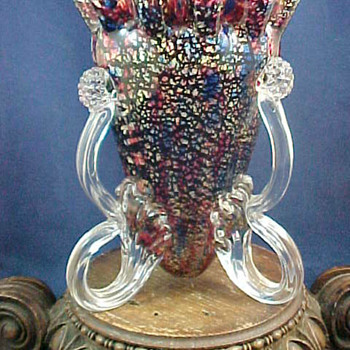 Stevens and Williams Art Glass Vase with Applied Berry Prunts - Art Glass