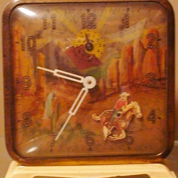 Vintage Roy Rogers Motion Alarm Clock - Clocks