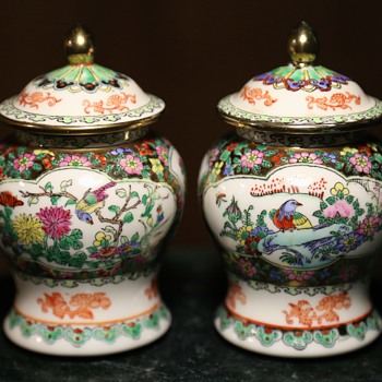 Two Small Ballaster Vases and a Ginger Jar - Asian