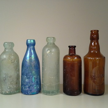 old bottle collection - Bottles