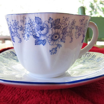 Shelley Tea Cup and Saucer - China and Dinnerware