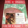 1948 Chicago Bears vs cardinals, football program. 