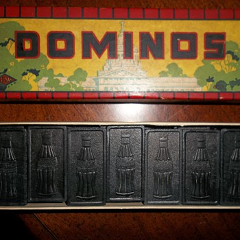 Vintage Coca Cola Dominos - Coca-Cola