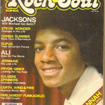 vintage Rock & Soul magazine Micheal jackson cover - Music