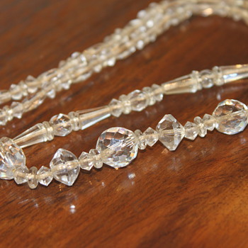 Crystal Bead Necklace - Costume Jewelry