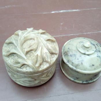 My soap stone pots