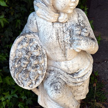 Acorn Gatherer Garden Statue