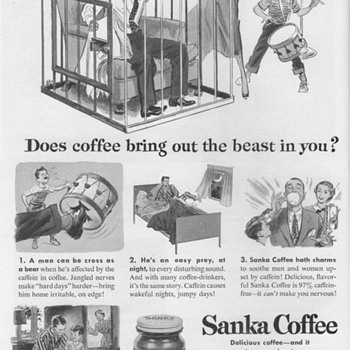1952 - Sanka Coffee Advertisements - Advertising