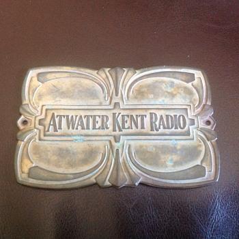 Atwater Kent Radio tin plate 1928