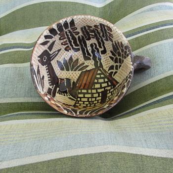 1920-30s Rare Find - Lucano Petatillo Coffee Cup - Traditional Folk Mexican Pottery -  Tlaquepaque - Pottery