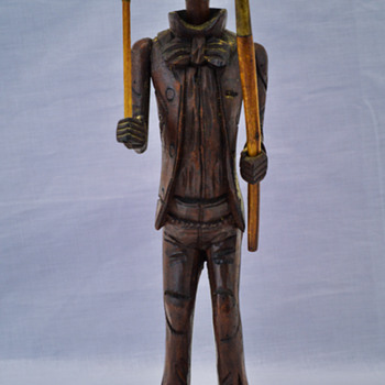 Carved Wooden Figure Tobacco Pipe - Tobacciana