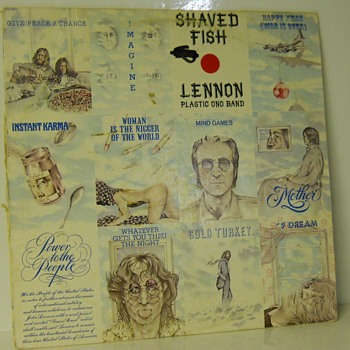 "John Lennon & Plastic Ono Band  ""Shaved Fish"" Release in 1975 - Records"