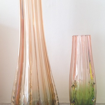 Rubina and rubina-verde vases - Art Glass