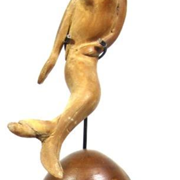 Folk Art Carving of a Mermaid Maritime Sailor Folk Art