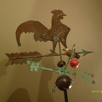 Rooster Weather Vane - Folk Art