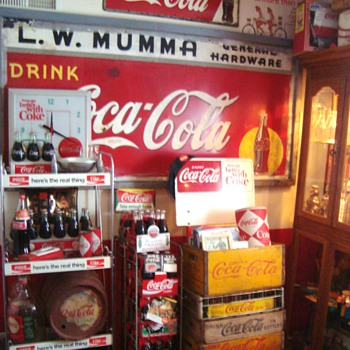 rearranged my coca cola room