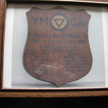 Y.M.C.A. Plaque from april 16 1929 - Sporting Goods
