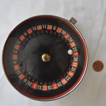 small roulette wheel game from Germany.