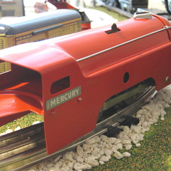 This is my restored Marx wind up Sparking Mercury,she was just a shell when I got her! - Model Trains