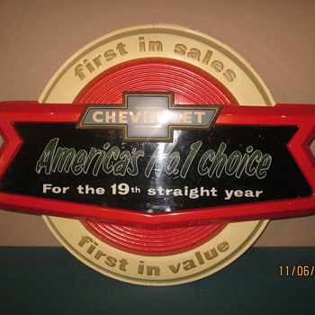 Chevrolet Dealership sign