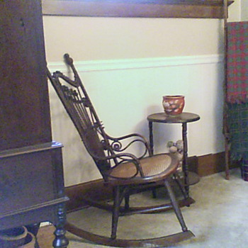 Great old cane bottom rocker. - Furniture