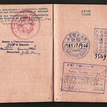 1946 Soviet passport issued in China - Paper