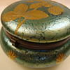 Loetz lidded box commissioned by A. Rupp
