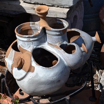 Sculptural Studio Pottery Fountain
