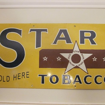 Star Tobacco Porcelain Sign - Advertising