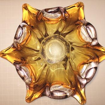 6 Branch Art Glass Bowl,1960-70 - Art Glass