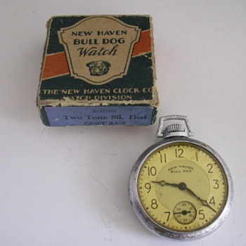 New Haven Bull Dog Watch - Pocket Watches