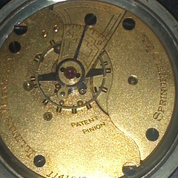 1889  how brothers la porte ind dial illinois com movement  - Pocket Watches