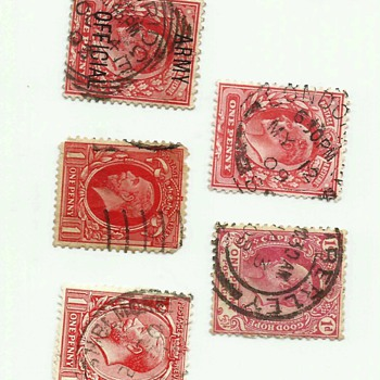 King head penny stamps
