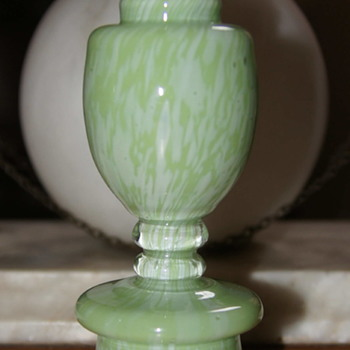 Welz Mini Trophy Vase - Variegated Green Without Handles