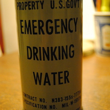 Military Emergency Drinking Water - Military and Wartime