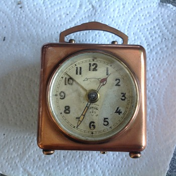 Lenzkirch copper case alarm clock