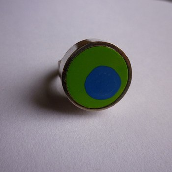 Modernist Danish ring  - Costume Jewelry