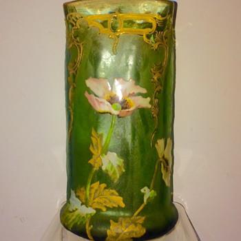 Nouveau Legras Mont Joye St Denis Enamelled Vase