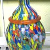 Spatter glass vase
