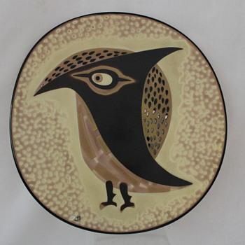 Fukuoka Glass owl plate