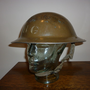 British WWII Home Guard steel helmet 1940 - Military and Wartime