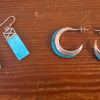 Turquoise & Silver Earrings - Pawn Shop Finds - Fine Jewelry