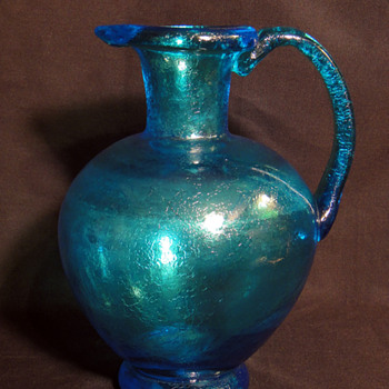 Blue Murano Glass Pitcher - Art Glass