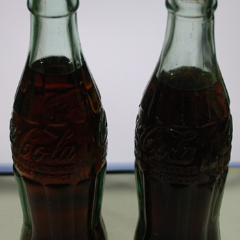 Vintage 6oz coca cola bottles still full!