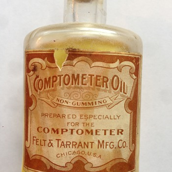 Felt & Tarrant Mfg. Co. Comptometer Oil