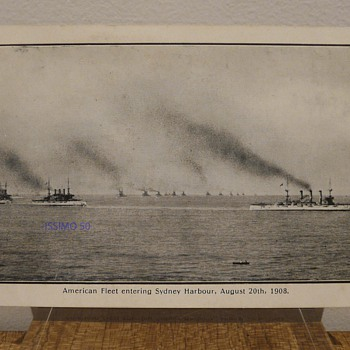 AMERICAN FLEET ENTERING SYDNEY HARBOUR, AUG. 20th 1908.