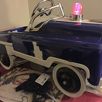 restored police pedal to Dodgers themed pedal car. - Toys