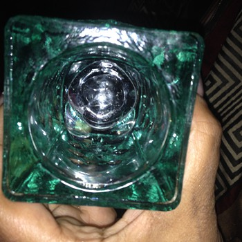 Green depression glass?? - Glassware