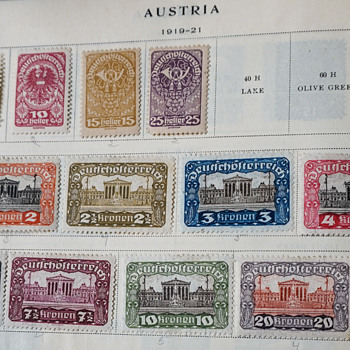 1919-1921 Austrian Stamps